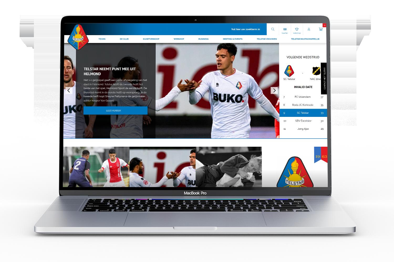 Telstar Website door Bluedesk
